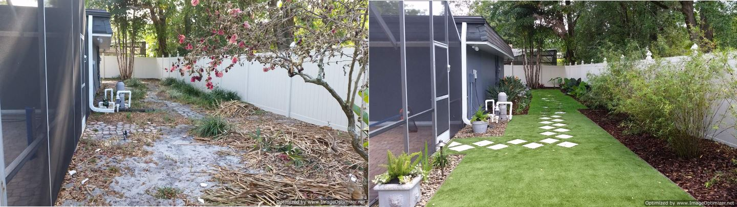 Lake Mary Artificial Turf Before and After